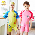 Boys and Girls one pieces Swimwear Kids Short Sleeved Swimsuit Children Bathing Suits for 2-12 Years Beach Clothing for baby