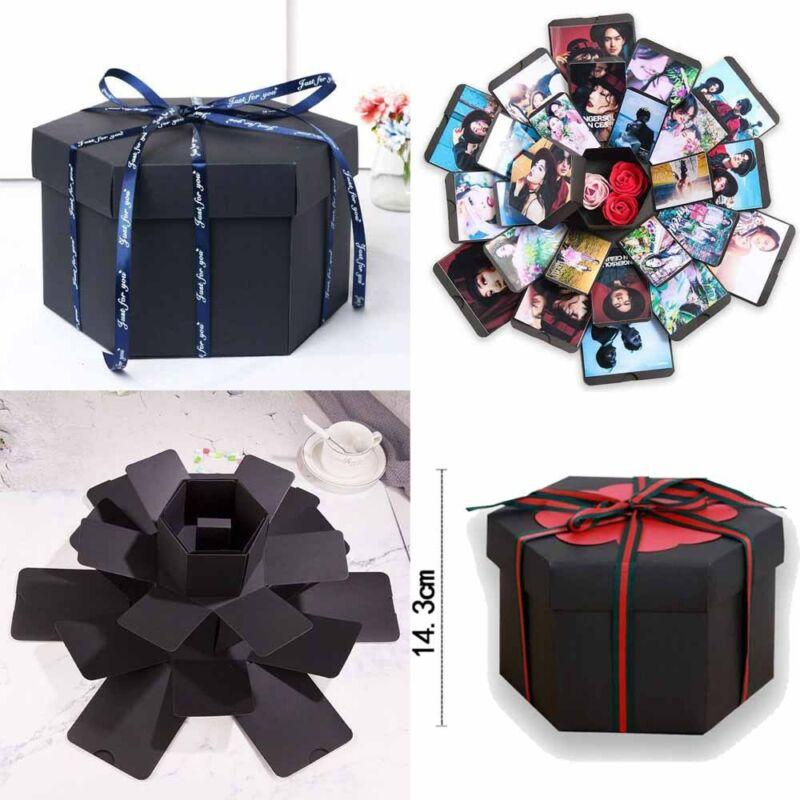 Boîte d'album Photo créative Explosion Surprise amour Scrapbook cadeau pour anniversaire saint-valentin anniversaire mariage Album de bricolage boîte