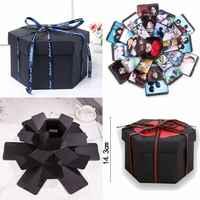 Criativo álbum de fotos caixa explosão surpresa amor scrapbook presente para aniversário dos namorados aniversário casamento diy álbum caixa