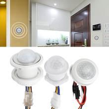 Mini przełącznik czujnika ruchu 220 V przełącznik czujnikowy wykrywacz ruchu dla domu LED Light