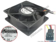 Free Shipping For ADDA AD1224UB-F52 DC 24V 0.40A 3-wire 110mm, 120X120X38mm Server Square fan