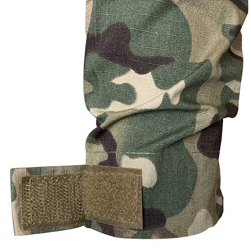 Perlengkapan Militer Taktis Pria Kamuflase Airsofts Atasan Lengan Panjang Pria Zipper Taktis Pakaian Overall untuk Pria Bekerja