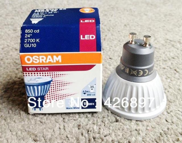 osram led star par16 35 220 240v 2700k 3000k 4 5w or 4 7w gu10 lamp 24d 50 60hz 40ma warm white. Black Bedroom Furniture Sets. Home Design Ideas