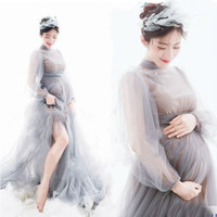 Pregnancy Dress Photography Maternity Dresses For Photo Shoot Long Lace Maternity Photography Props Dress For Pregnant Women