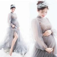 Vestido de embarazo fotografía vestidos de maternidad para sesión fotográfica encaje largo maternidad fotografía Props vestido para mujeres embarazadas