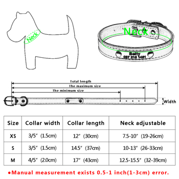 Genuine Leather Dog Collar Inner Padded Custom Personalized Dog Collars with Engraved Nameplate ID Tag For Small Medium Dogs 5