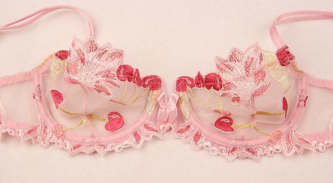 Free shipping Ultrathin embroidery lace bra bra brief sets women bra set sexy bra set women underwear set 29