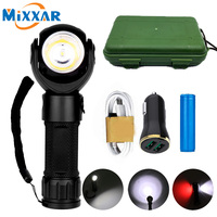 9000LM T6 LED Flashlight Torch COB Working Camping Travel Magnetic Light Lantern Lamp+18650 battery+USB Car Charger+Gift Box