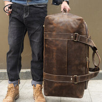J.M.D New Domineering Large Genuine Leather Bag Travel Super Large Capacity Men's Leather Travel Bag Handbag 6008