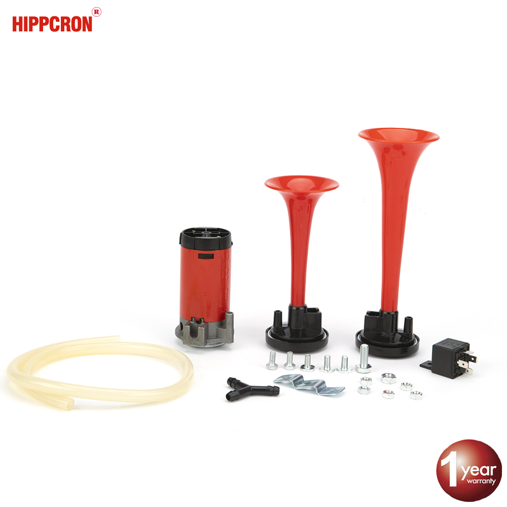 Loud 12v 135db Twin Trumpet Air Horn & Compressor Set Kit Car Boat Truck Ah006 Complete In Specifications Multi-tone & Claxon Horns