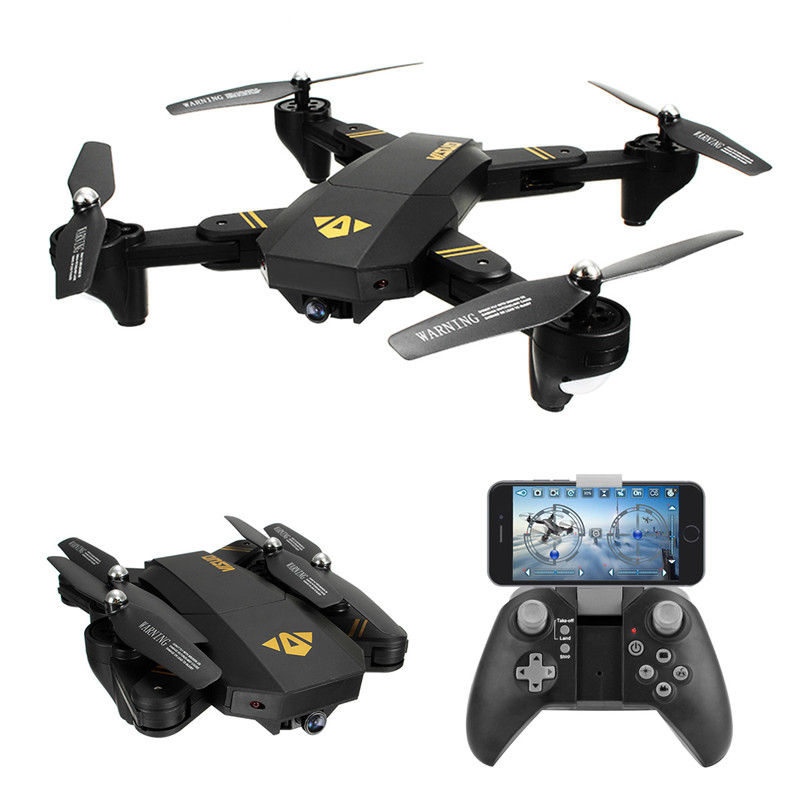 Visuo xs809w WI-FI FPV-системы Складная рукоятка FPV-системы Quadcopter с 2mp 0.3mp HD Камера 6axis Безголовый Радиоуправляемый Дрон Игрушечные лошадки RTF VS jjrc H37 H31 ...