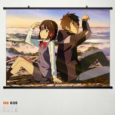 Your Name taki Miyamizu Mitsuha Home Decor Poster Wall Scroll New Year Gift 003