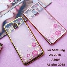 Kainuen Роскошный телефон Вернуться etui, coque, крышка, чехол для Samsung Galaxy A6 2018 A6 плюс 2018 a600F силикона кремния мягкие Аксессуары