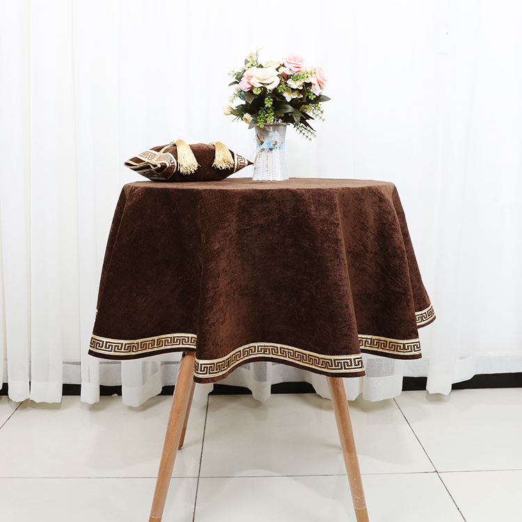 latest high end lace geometry table cloth for round coffee table cloth european velvet fabric dining table protection cover