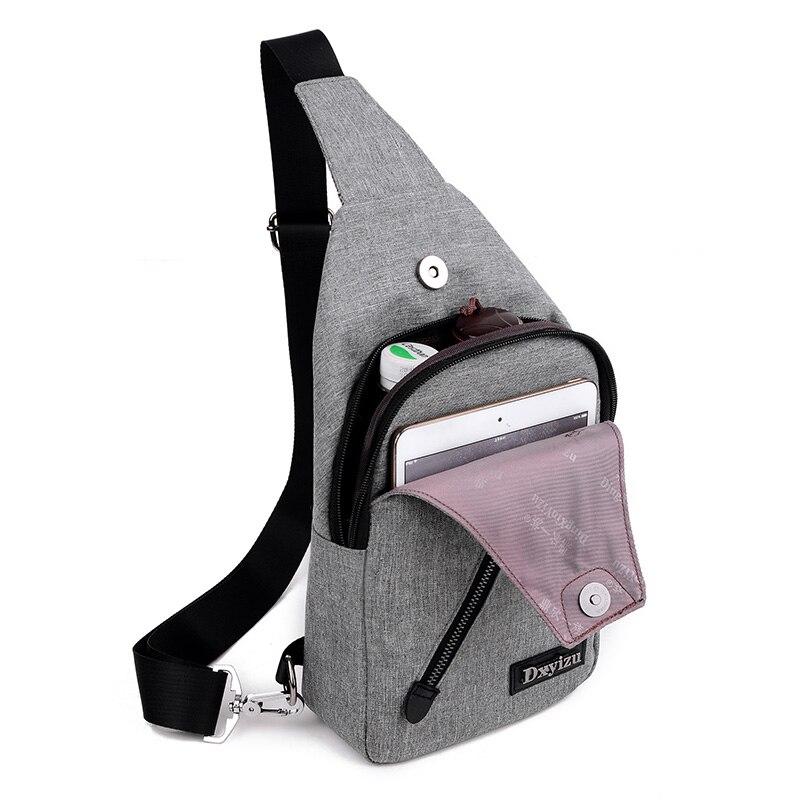 ANNIU 2017 nové příležitostné Pánské plátno móda Messenger taška přes rameno batoh mužské malé crossbody Chest Bag čtyři barvy