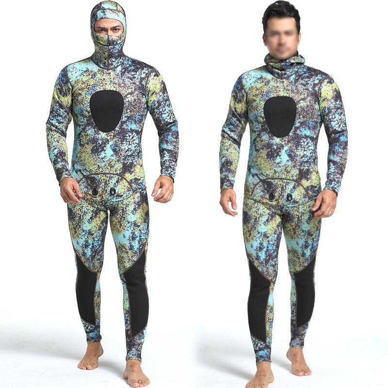 Super-vendita-Diving muta in neoprene 3mm degli uomini di pesca diving pesca subacquea muta surf snorkeling costume da bagno Spaccato Adatta Combinazione di surf w