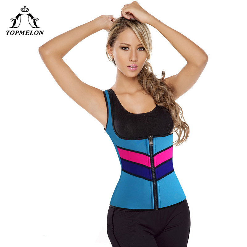 TOPMELON Women Neoprene Hot Shaper Tops Sweat Underwear Shapers Tummy Abdomen Lose Weight Slimming Compression Shaperwear Vest