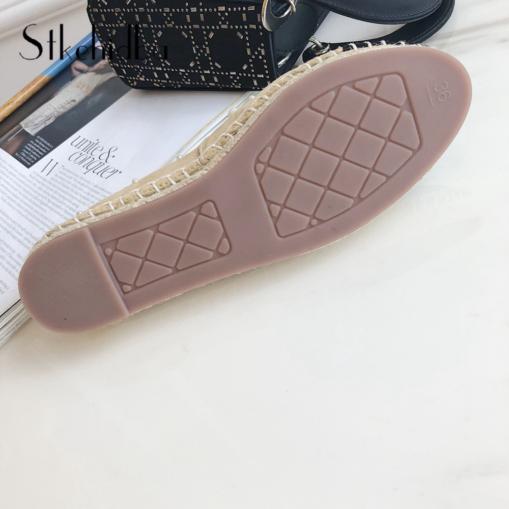 4661c0c6212ba Stkehidba Designer Brands Women Genuine Leather Espadrilles Fashion ...