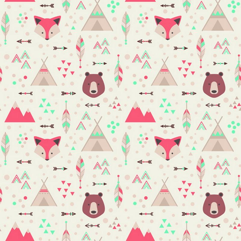 Birthday photography backdrop Cartoon fox and bear photo background for newborn Christmas D-9329