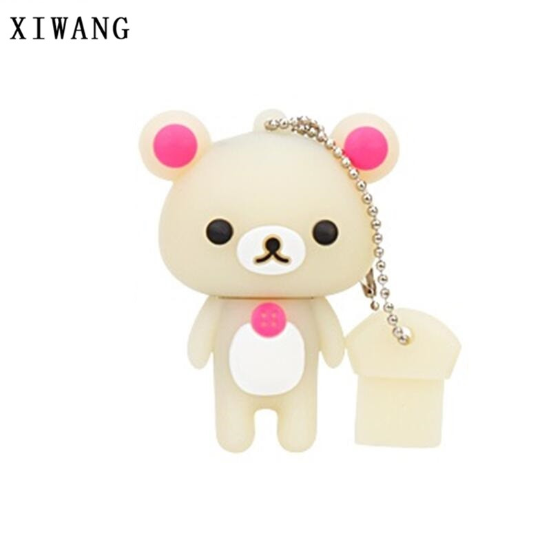 XIWANG Creative Cartoon Bear USB Flash Drive Pendrive Memory Stick USB 2.0 4GB 8GB 16GB 32GB 64GB Cute Bear U Disk Free Shipping цена и фото