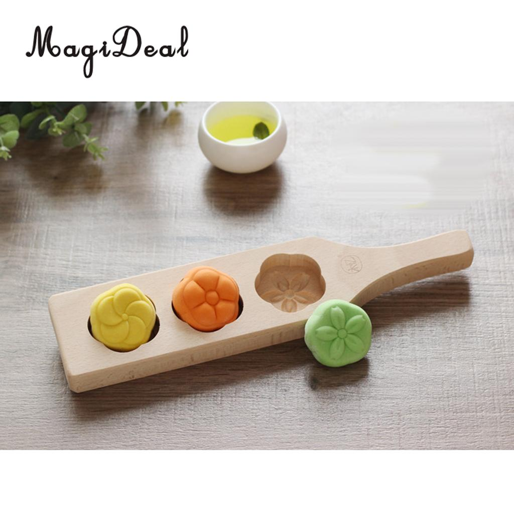 Molding Tools Baking Mold Fondant Mold Wooden MOONCAKE,Biscuit, Cookie DIY Craft Decorating Flowers