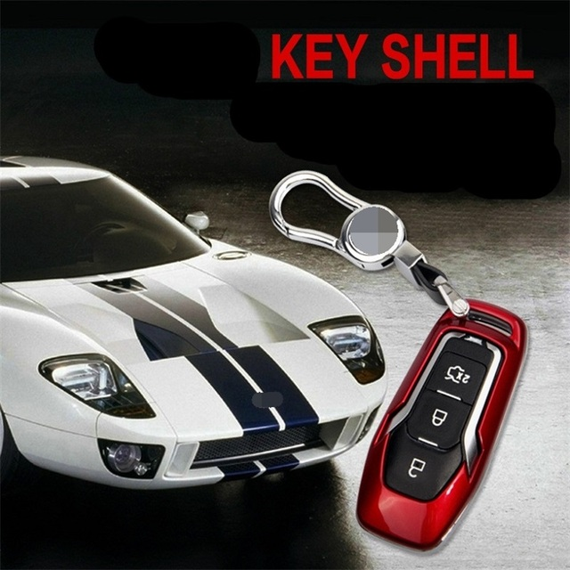 High Quality New Abs Material Products Auto Key Cover Car Accessories Case Abs Zinc Alloy For Ford Fusion Mustang Edge