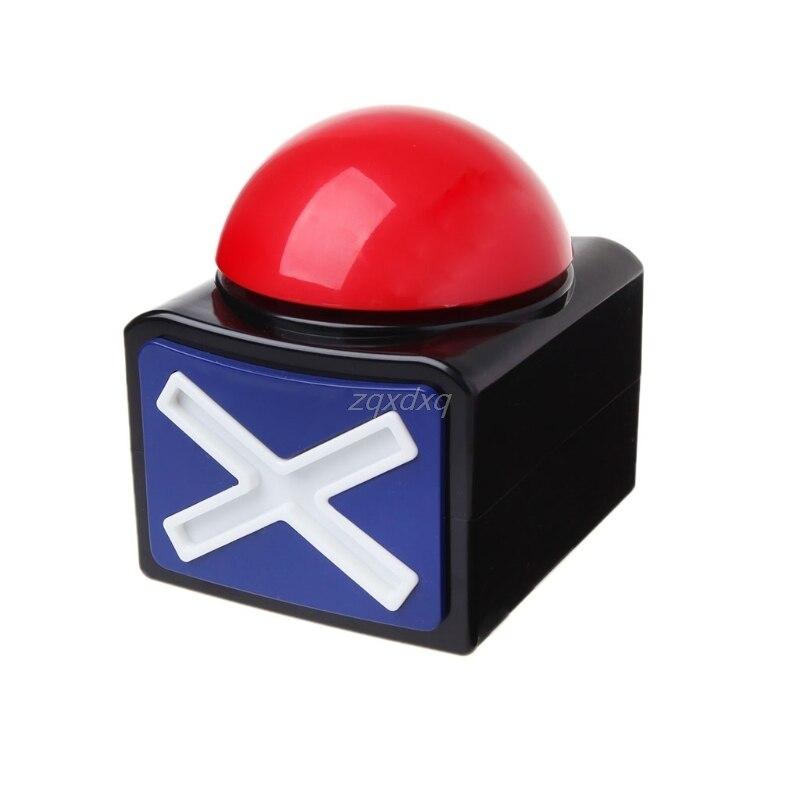 Juego respuesta timbre de alarma botón con sonido luz Trivia Quiz tiene talento timbre AUG_18 Dropship