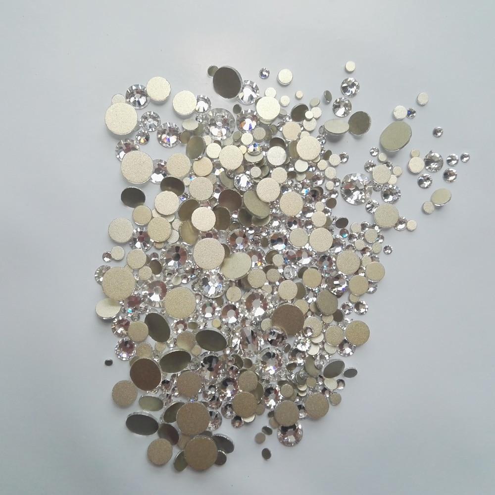 YanRuo vegyes méretek Lapos hátsó körömlakk kristály ragasztó - Köröm művészet - Fénykép 3