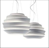 Modern D40cm Foscarini Le Soleil Wave Pendant Lights White Rose Suspension Pendant Lamp Bedroom Hanglamp E27