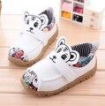 2016 Unisex Niños Respirables de Los Zapatos de los Bebés Varones Zapatos Nuevos Niños de la Marca Zapatos Deportivos de Cuero Ocasionales Chico Zapatos de Bebé de Impresión