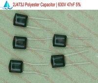 (100pcs/lot) DIP 2J473J Polyester Film Capacitors 630V 47nF Through Hole TOL:5%