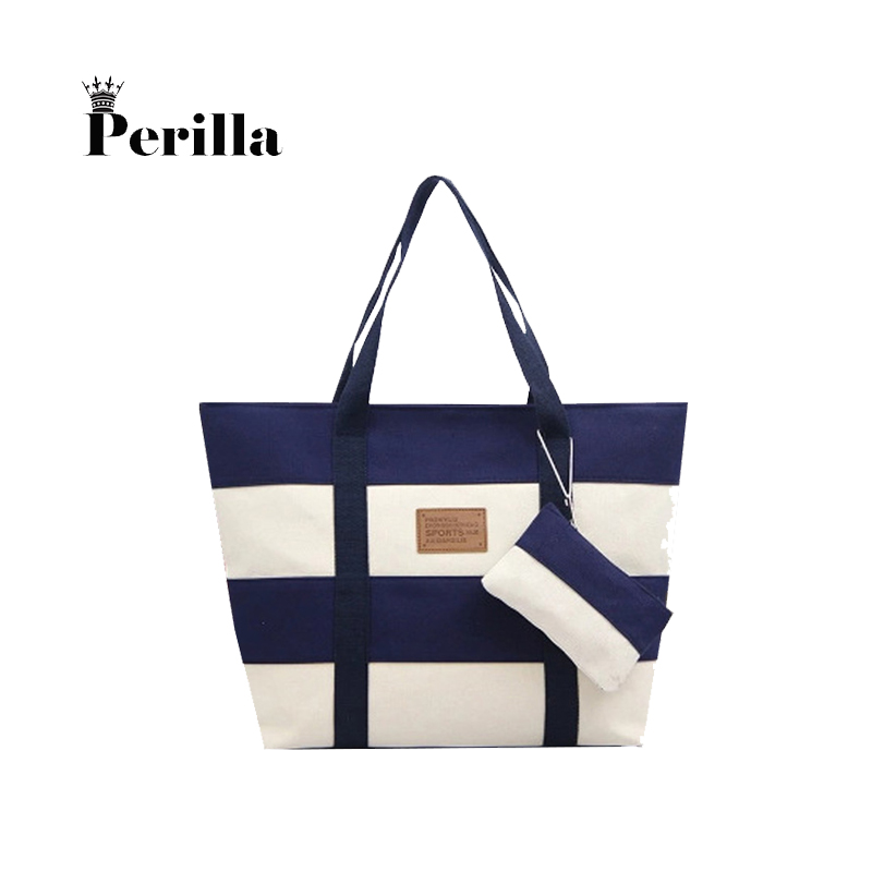 Perilla Women Luxury Handbags High Quality Designer Handbags Canvas Casual Tote Bags Shoulder Bags Female Bolsa Feminina 2Set mara s dream 2018 luxury handbags women bags designer high quality canvas casual tote bags shoulder bags female bolsa feminina