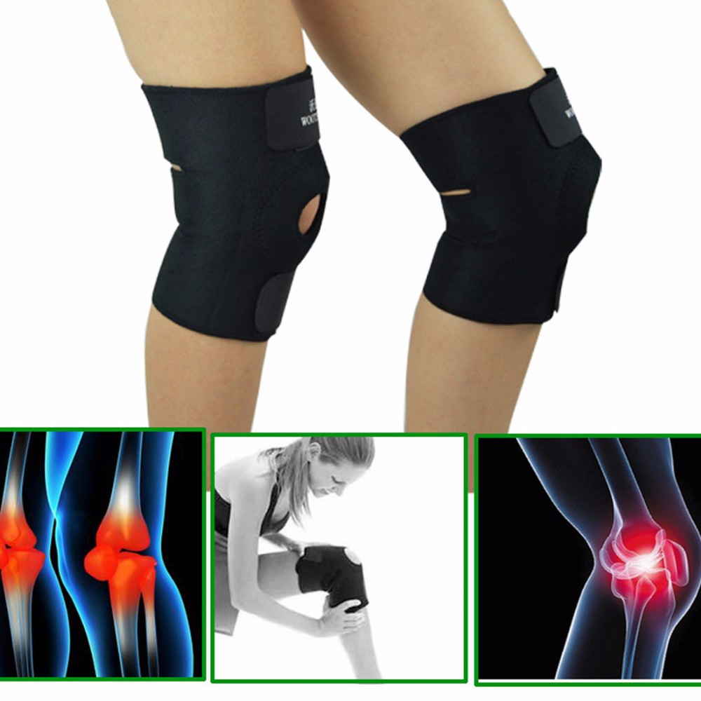 MQUPIN  4 Seasons Support Adjustable Sports Leg Knee Support Brace Wrap Protector Pads Sleeve Safety Knee Brace Patella Guard