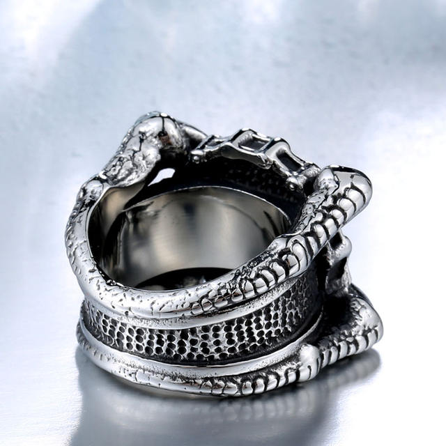 STAINLESS STEEL CLAWS SKULL RINGS