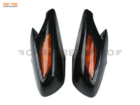 Motorcycle Rear View Side Mirror with Orange Turn Signal Light Case for Honda ST1300 ST 1300 2002 2011