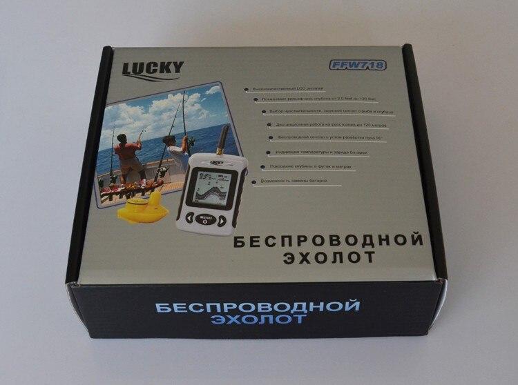 Menu russe Sonar sans fil Portable détecteur de poisson écho sondeur alarme rivière lac mer lit vivant 131ft/40 M