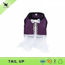 Dual purposes pet wedding dress summer wear free shipping promotional pet dress lovely pet harness dog clothes