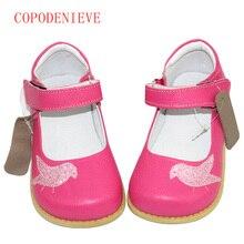 Copodenieve девушка обувь из натуральной кожи детской обуви из натуральной кожи детские повседневные туфли на плоской подошве кроссовки обувь для мальчиков птица