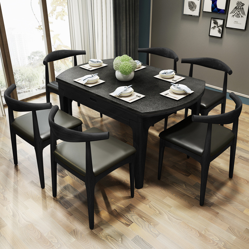 US $899.0 |Modern design black dining set wood dinner table-in Living Room  Sets from Furniture on AliExpress