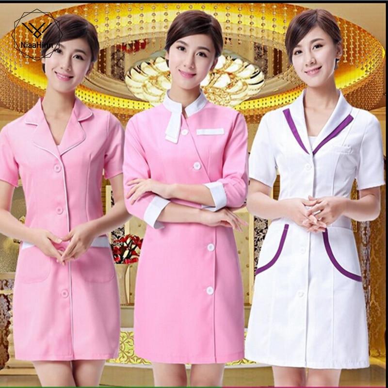Nurse Uniform Beautician Overalls Medical Clothing Beautician Dress Beauty Salon Uniforms Medical Uniforms Lab Coat Supplies