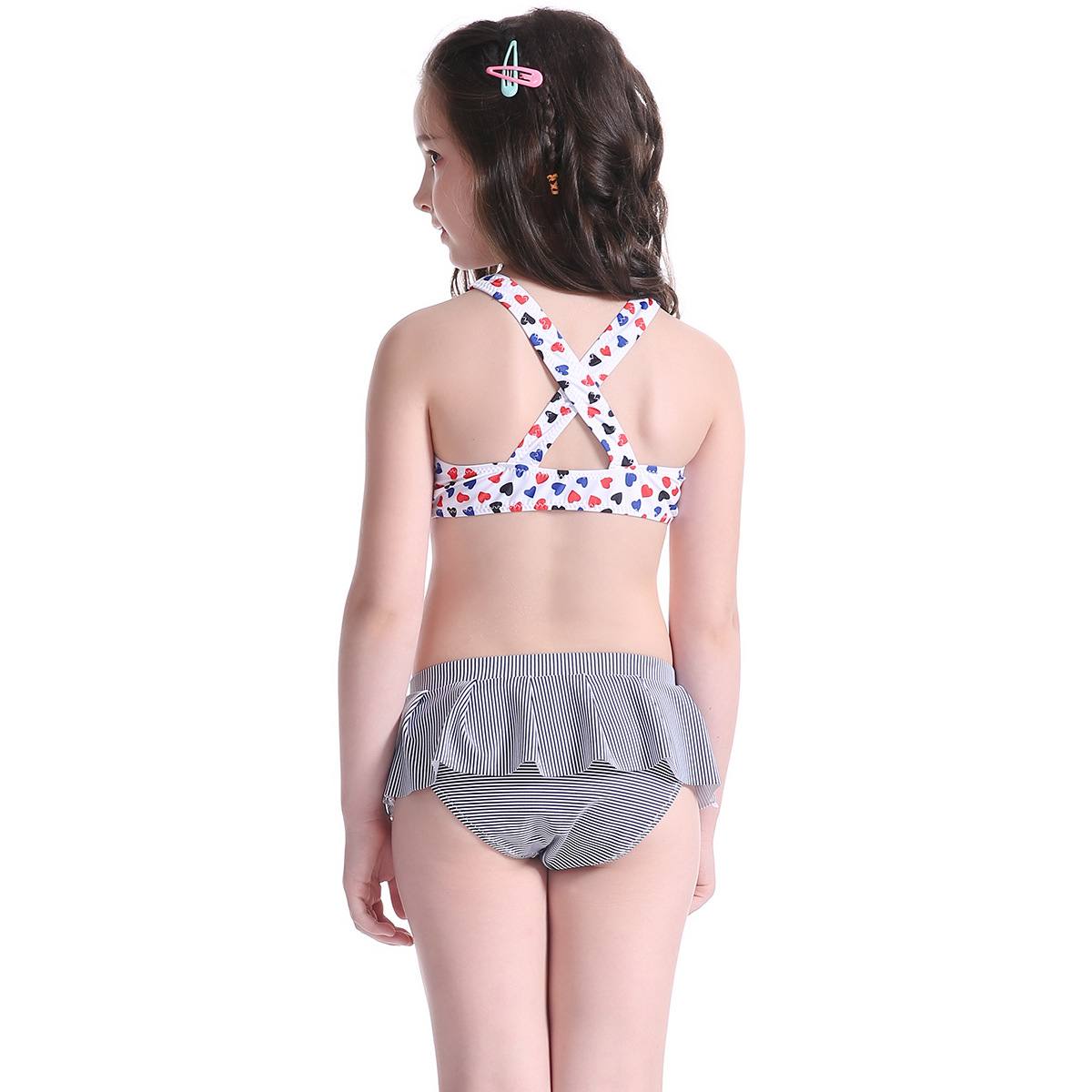2018 New Pop Kids Swimsuit Children Swimwear Kids Summer Two Pieces SetSkirted Swimsuit Girl Bikini Beach Wear Swimsuit
