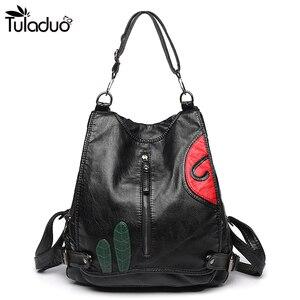 Kobiety szczelina kieszeń skórzany plecak Zipper szkolne torby dla nastolatków torba podróżna na komputer przenośny czarna torba damska na ramię