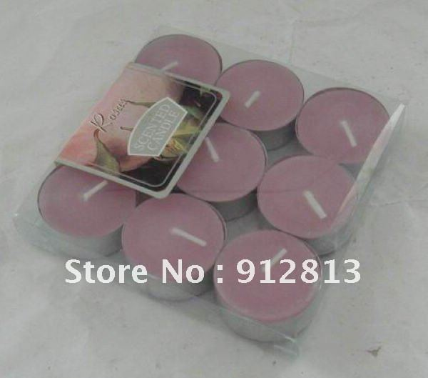 Hot Sell And Cheap 9pcs/lot Red Fragrance Tealight Candle Gift Sets With Card