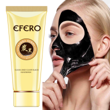 EFERO Black Mask Nose Strips Blackhead Remover Acne Treatment Peeling for Face Masks Pore Head Skin Care