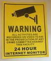 5pcs CCTV Security Surveillance Camera Warning Sticker Warning Lable Sign Free Shipping