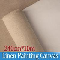 240 см * 10 м супер ширина линии краски ing холст пейзаж масляная краска ing краска бумага для печати художник пустой холст принадлежности для рис