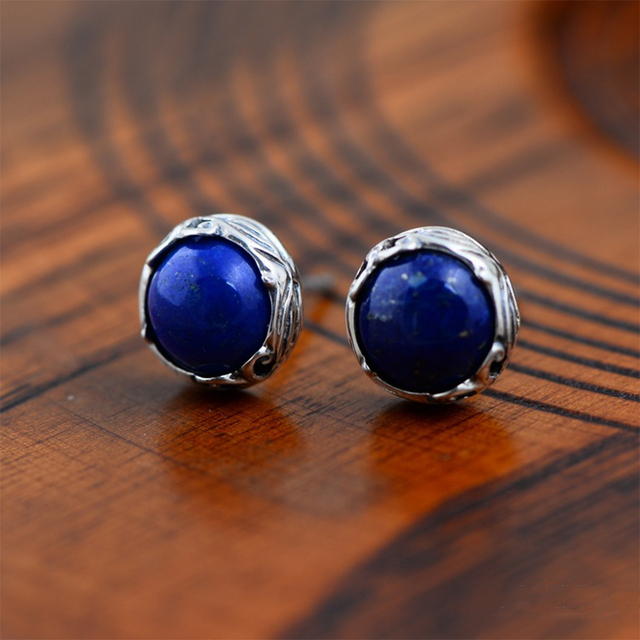 earrings stud diamond lapis