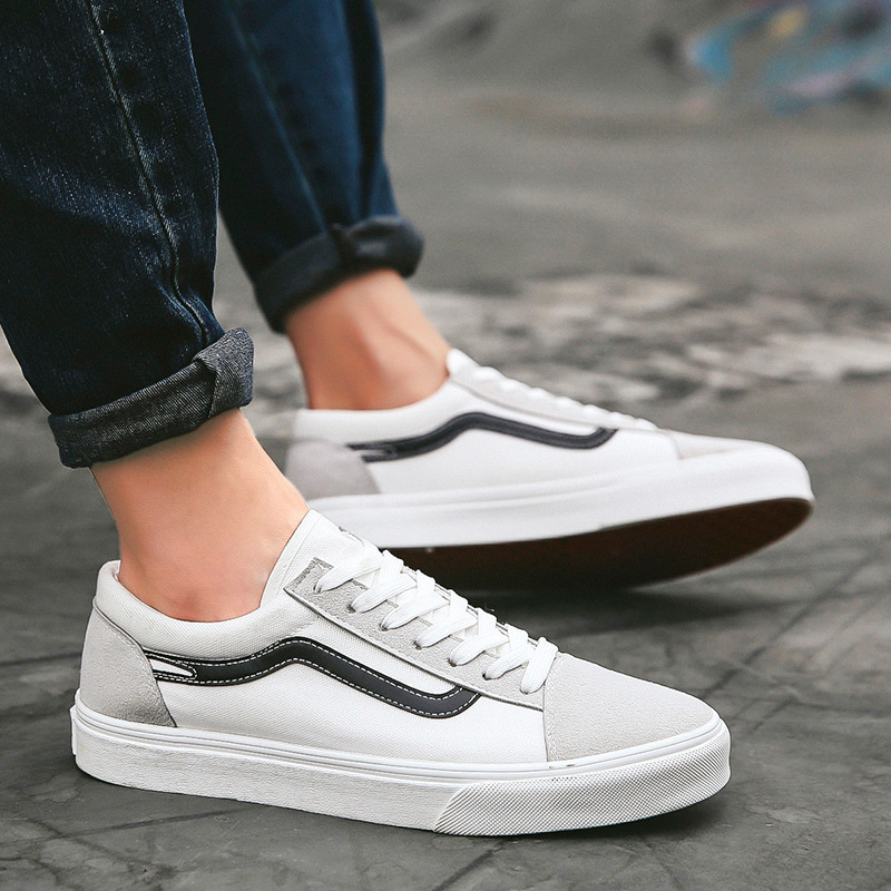 2019 New Casual Canvas Shoes Running Outdoor Breathable Korean Version All Match White Flat Bottom Colorful Couple Shoes