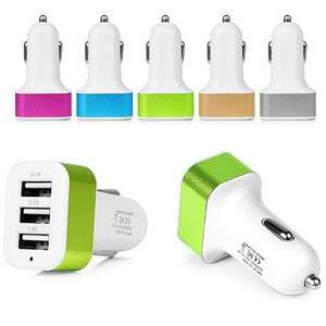 Socket Phone-Charger-Adapter Usb-Car-Charger Xiaomi 3-Port Universal iPhone 1A for Samsung