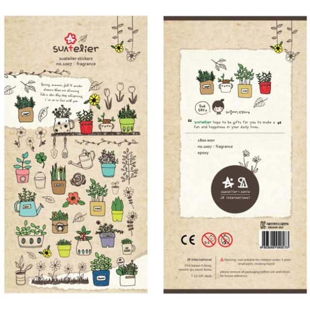 1 Sheet Cute Sticker Bonsai Sticky Paper For Scrapbooks Stickers For